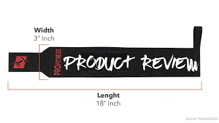 """ProFitness 18"""" Weight Lifting Wrist Wraps W/Thumb Loop Hole for Men & Women PRODUCT REVIEW"""