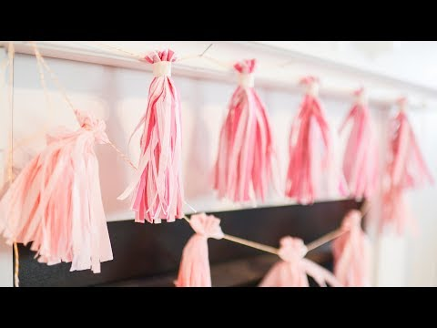 Easy, Inexpensive, Tissue Paper Tassel Garland Tutorial
