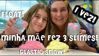 FLOAT SLIME ! SLIME WITH PLASTIC SNOW ! ICEE SLIME WITH PLASTIC SNOW ! CLEAR SLIME !