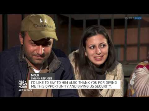 How these refugees' journey ended with a ride on the pope's plane