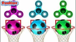 Aprender Colores Con Fidget Spinner Bolas De Fútbol Colores Fidget Juguetes Para Niños Niños Hoopla