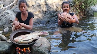 Life skills: Catch and Cook Red fish for Food forest - Cooking Red fish for Dinner Ep 79
