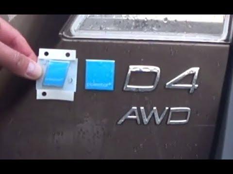 Restyled Polestar Badge Installation. Установка новой Polestar эмблемы. - YouTube
