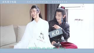 """[Eng sub] The Untamed BTS """"Rock Paper Scissors"""" Xiao Zhan & Wang Yibo"""