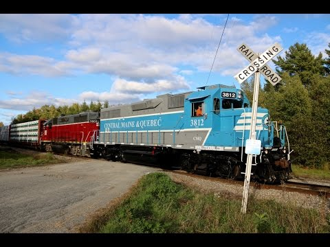 Central Maine & Quebecs New Paint Scheme Leads Job 202 South - 9/28/2016