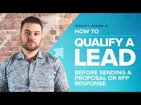 How to Qualify a Lead Before Sending a Proposal or RFP Response - Proposify Biz Chat