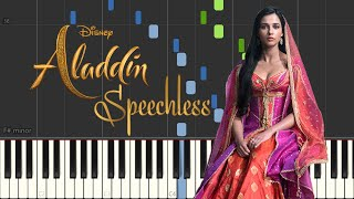 "Naomi Scott - Speechless (Piano Tutorial by Javin Tham) From ""Aladdin"""