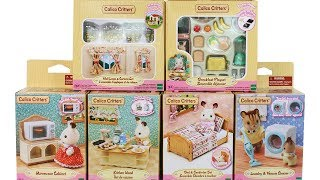 Calico Critters Village Furniture And Accessory Sets Unboxing Toy Review
