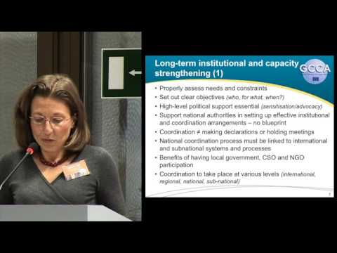 GCCA Global Learning Event: Technical Summary of Key Conclusions - Catherine Paul