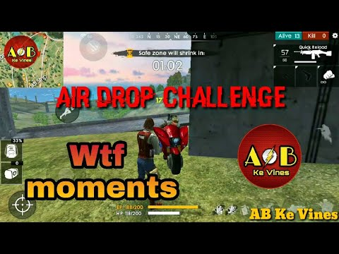Air Drop Challenge In Free Fire Battleground Wtf Moments In Free
