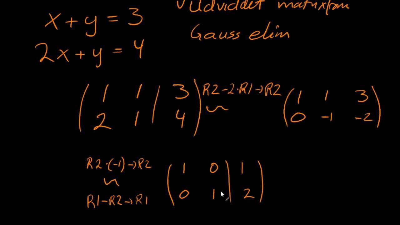 Antal løsninger til linære ligningssystemer