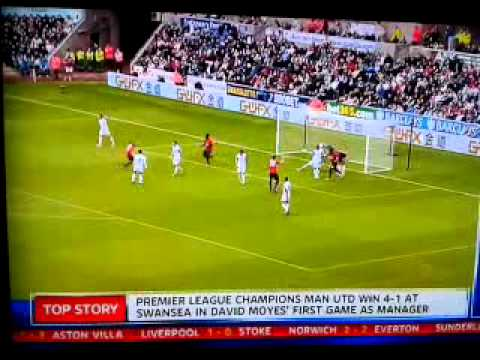 Swansea 1-4 Manchester united all goals! HD