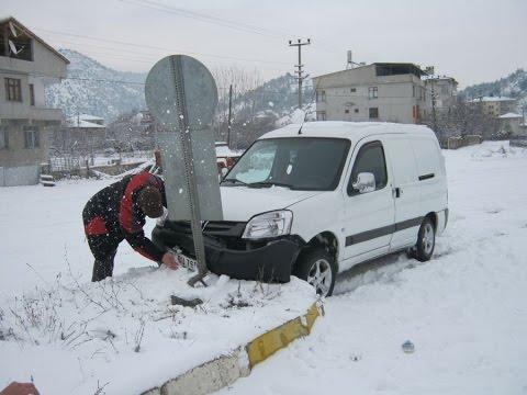 Karda Kayıp Kaza Yapan Arabalar YENİ !