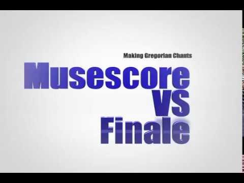 Musescore vs Finale - Making Gregorian Chants