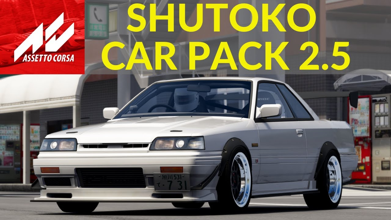 New Assetto Corsa Car mods Pack Shutoko Revival Project 2.5