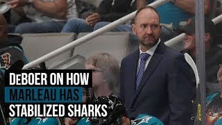Sharks' DeBoer on how Marleau helps the squad