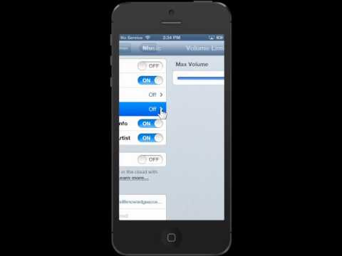 Apple iPhone 5 Adjust the Volume Limit