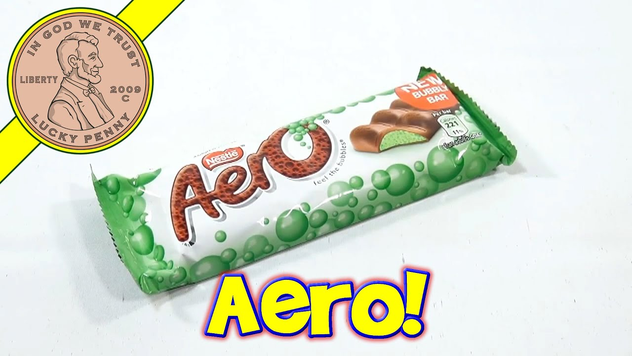 aero bubbly mint candy bar nestle uk youtube