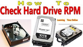 How To Check Hard Drive RPM | What is HDD