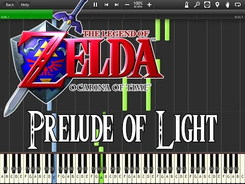 Zelda Ocarina Of Time - Prelude Of Light (Synthesia)