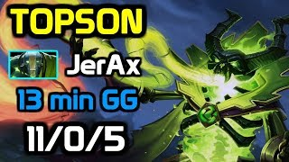 TOPSON Totally Destroying MID Tinker - 13 min GG - TOPSON Pugna full gameplay w/ JerAx Earth Spirit