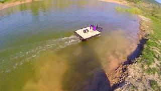 кораблик для риболовлі своїми руками частина 34 другий тест корпусу з ABS пластику на озері