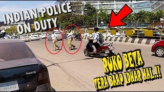 INDIAN POLICE VS BIKERS
