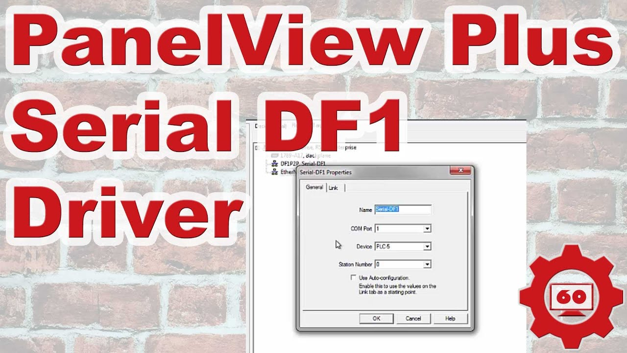 PanelView Plus DF1 Serial Driver