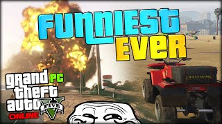 GREAT GRAPHISC, FUNNY EXPLOSIONS AND MEGA DIVE (GTA 5 PC Funny Moments #1 / Gameplay)