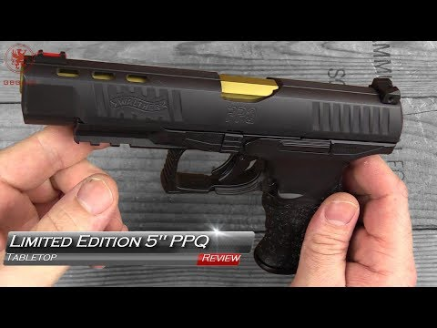 """Limited Edition Walther 5"""" PPQ Tabletop and Field Strip"""