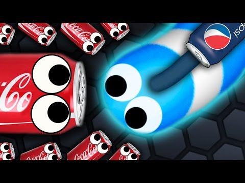Thumbnail: Slither.io - 500 COCA COLA SNAKES vs. 1 PEPSI SNAKE // Slitherio Gameplay! (Slitherio Funny Moments)