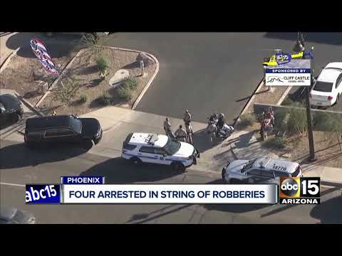 Four arrested following string of armed robberies, aggravated assault in West Phoenix