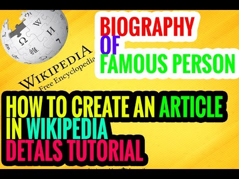 How to create biography page in wikipedia [100% details & best]