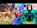 THE ULTIMATE BATTLE CHO'GATH VS FOODKAISER! AFRAID OF NEW MORDEKAISER? 😂 TOP Cho'Gath S9 Gameplay
