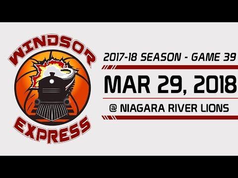 Windsor Express HIGHLIGHTS vs Niagara - 3/29/18
