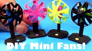 DIY Miniature Dollhouse Fans