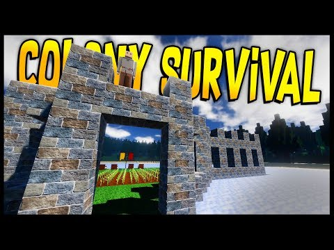 Colony Survival - FLOATING COLONY & RULING A KINGDOM! Building A Castle On A Lake! Part 1