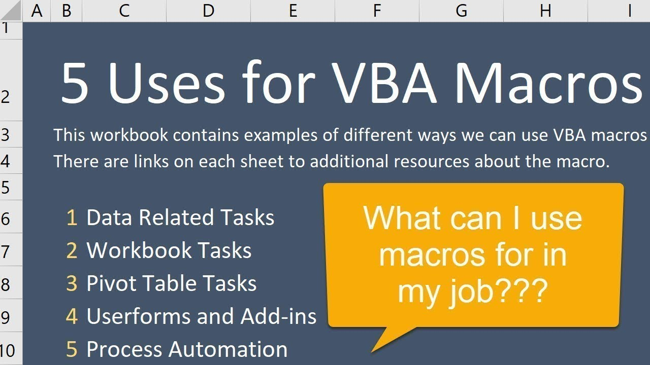 5 Ways to Use VBA Macros for Excel in Your Job