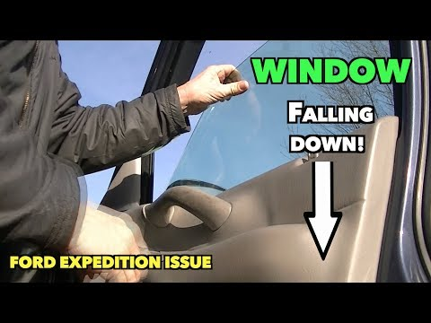 Ford Side Glass Falling Inside Door. Why It Happens. Possible Fix.  Passenger Panel Removal.