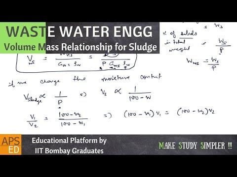 Volume Mass Relationship for Sludge | Waste Water Engineering