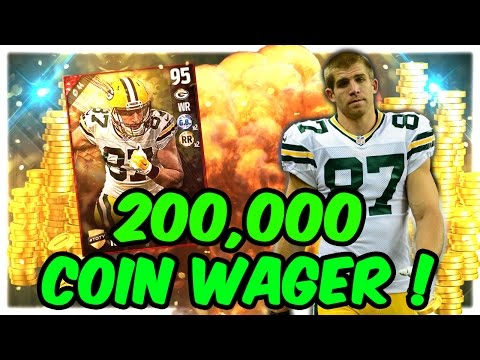 WE GOT 95 OVR TEAM OF THE YEAR JORDY NELSON! (200K WAGER) - MADDEN NFL 17 ULTIMATE TEAM