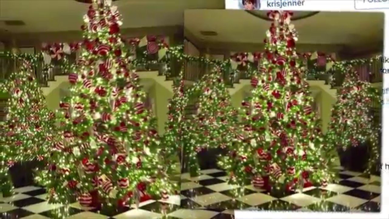 The Many Kardashian Christmas Trees - YouTube
