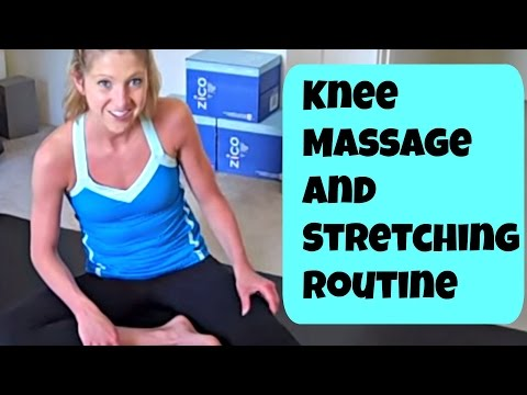 Knee Massage and Stretching Exercises. Free Helpful Knee Pain Relief Routine