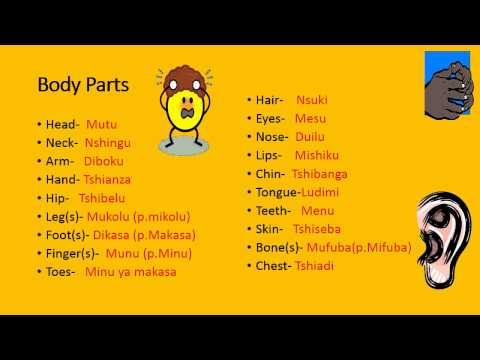 Tshiluba Lesson 5 Body Parts