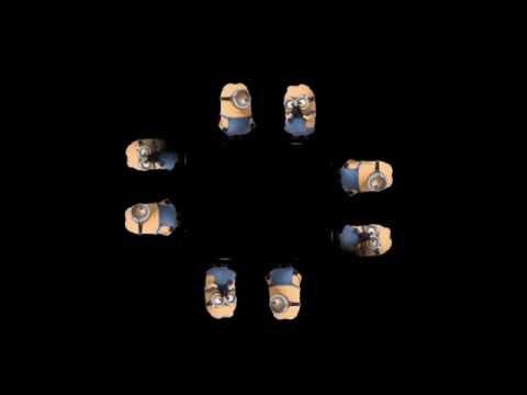 Minion fart | HOLHO 3D Hologram Template 4faces pyramid
