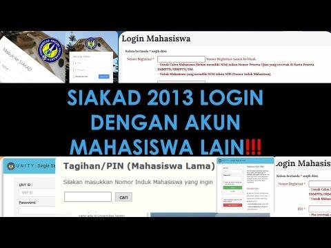 SIAKAD 2013 UNY Login dengan Akun Mahasiswa Lain