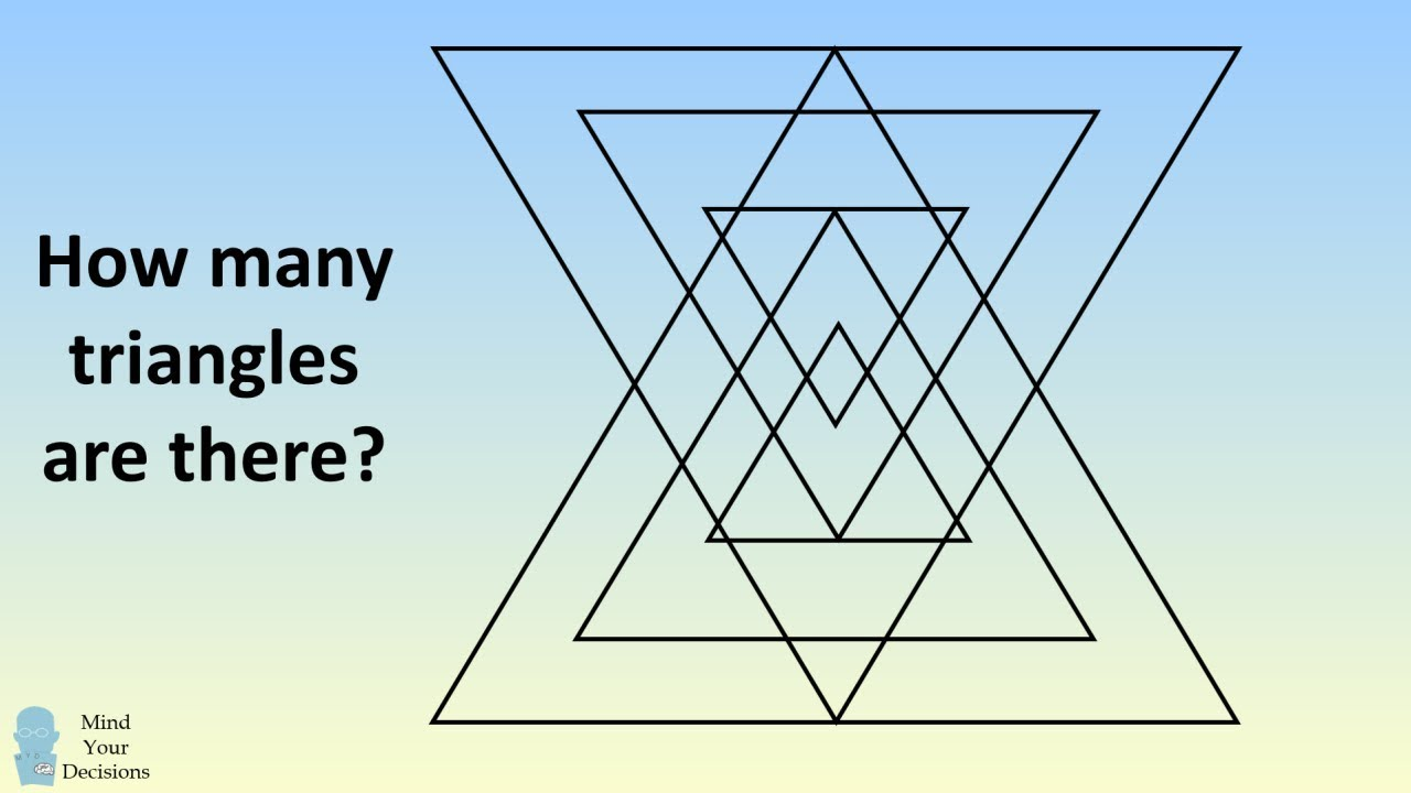 How Many Triangles Do You See? Challenging Puzzle #1
