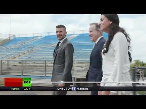 David Beckham breaks ground on new stadium