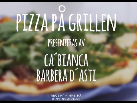 Pizza på grillen & Ca'Bianca Barbera d'Asti