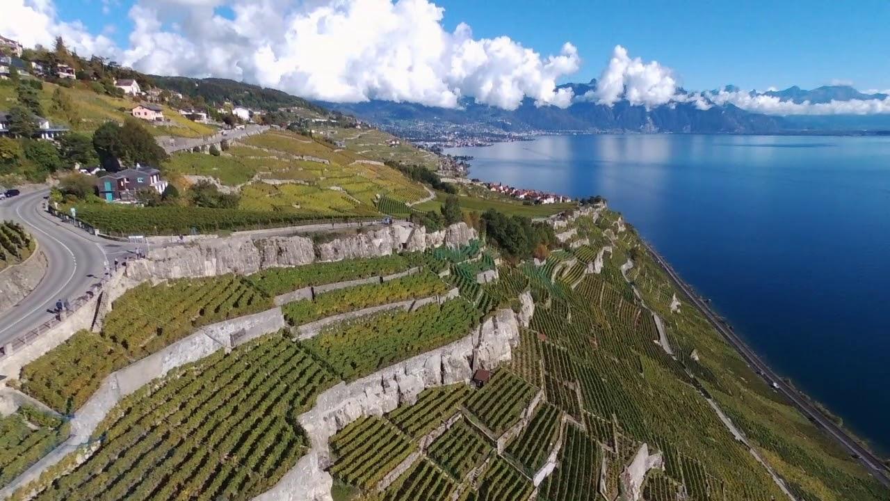 Suisse Romande En Drone Vineyard And Valleys In